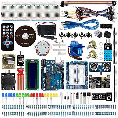 61ZXCO%2BJRpL - Smraza Conjunto Medio a UNO para Arduino con Tutorial y Conjunto de UNO R3,Relé de 5V,Modulo de Fuente de Alimentación,Servomotor, LCD1602 para Arduino Mega 2560 Nano UNO R3