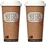 Life Story Corky Cup, Reusable Coffee Cup, Insulated Travel Mug On The Go, Dishwasher Safe, 16oz/473ML, 2-Pack
