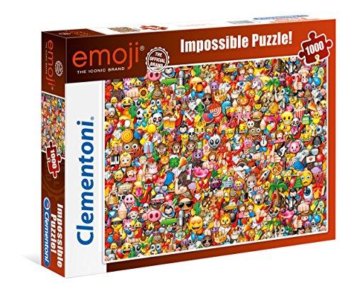Clementoni- Emoji Impossible Puzzle, 1000 Pezzi, 39388