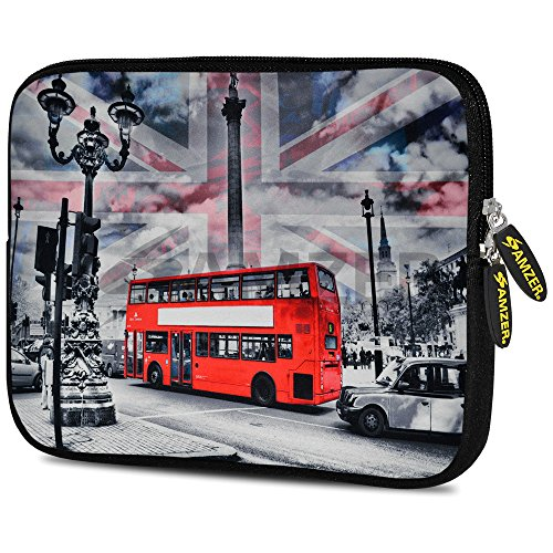 Amzer 7.0-7.75 Inches Designer Neoprene Sleeve Case for iPad/Tablet/e-Reader and Notebooks, London Red Bus (AMZ5249077)