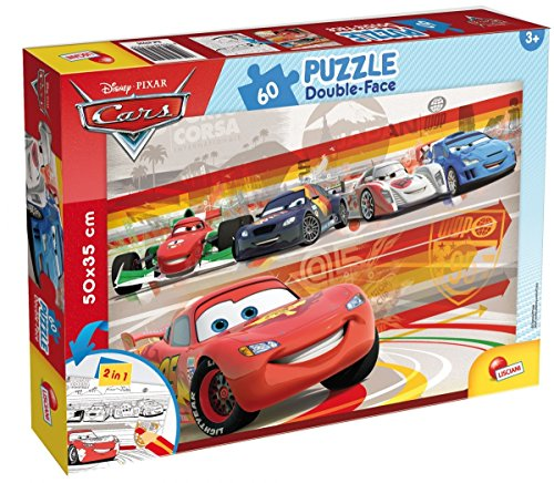 Lisciani Giochi 47925 - Cars Puzzle Doppia Faccia Plus, 60 Pezzi