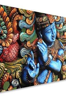 Feeby Frames, Cuadro en lienzo, Cuadro impresión, Cuadro decoración, Canvas de una pieza, ESTATUA BUDA, ZEN, INDIA, ORIENTE, MULTICOLOR