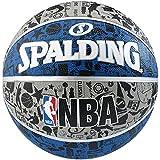 Spalding, Pallone NBA Grafitti Outdoor, Blu (Blau/Grau), 7