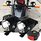 Faros Delanteros Led,Antinieblas Moto Led,Faros Antiniebla Moto Led,Cree U5 lámparas 30W 3000LM alta y baja haz Strobe con Interruptor para Motocicleta ATV Camión Impermeable IP55 (2 Piezas)