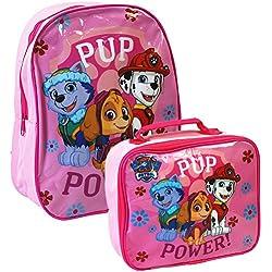 Nickelodeon Patrulla canina Juego de mochila escolar y bolsa para el almuerzo rosa Rosa