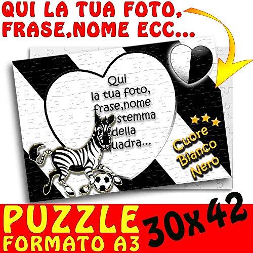 Puzzle A3 30x42 - Calcio - personalizzato con foto,nome,ecc Juve Juventus con Zebra