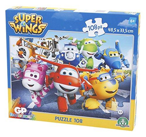 Giochi Preziosi - Super Wings Puzzle, 108 Pezzi, Assortito in 2 Modelli