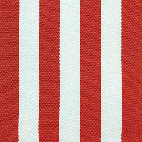 CARILLO Tela per Sedia a Sdraio al Metro Righe Altezza 45 cm - Capri M737 Rosso