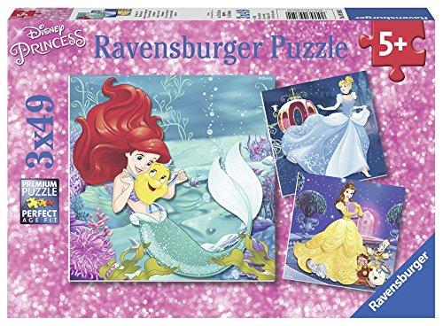Ravensburger Italy Puzzle Le Avventure delle Principesse, 3 X 49 Pezzi 09350