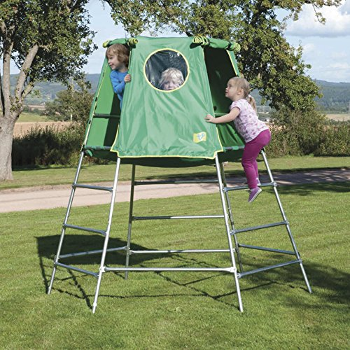This an affordable climbing frame that is well-built and looks amazing with its den. Building the structure is easy and the platform can be set at a desirable height that suits your child. Your child can start using it as early as 18 months and grow with it till he or she is 12. Still makes a great choice if you have children of different ages, but you have to be careful how to you set it up.