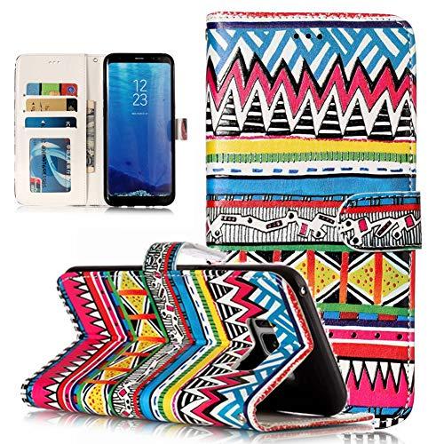 XINYIYI Estuche para Samsung Galaxy S8 Plus Bookstyle Estuche Pintado Pintado PU Funda de Cuero Flip Flap Funda Protectora TPU Funda de Silicona para Samsung Galaxy S8 Plus -Totem