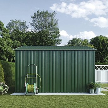 WALTONS-EST-1878-Metal-Garden-Shed-Large-Outdoor-Storage-91-x-84-with-Sliding-Doors-Easy-Access-Ramp-Weatherproof-Apex-Roof-by-Waltons