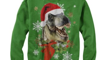 de5f911263c960 Lost Gods Ugly Christmas Sweater Festive T Rex Santa Mens Graphic Sweatshirt