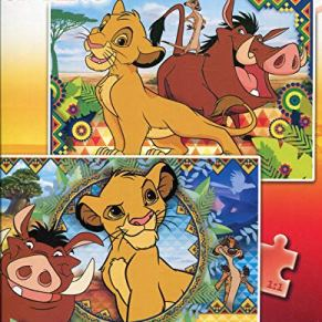 Clementoni 21604 Clementoni-21604-Supercolor - Puzzle-Der König Der Löwen-2 x 60 Piezas, Multicolor