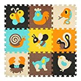 Los niños embroman el juego de rompecabezas colorido Catroon no tóxico de la espuma de los azulejos del piso por 12 'x 12' x 0. 4 'Plaza meiqicool 010