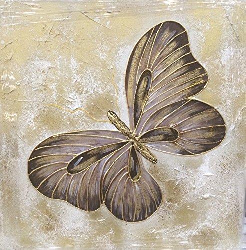 Cuadro mariposa pintado a mano sobre lienzo y bastidor de madera reforzadoC