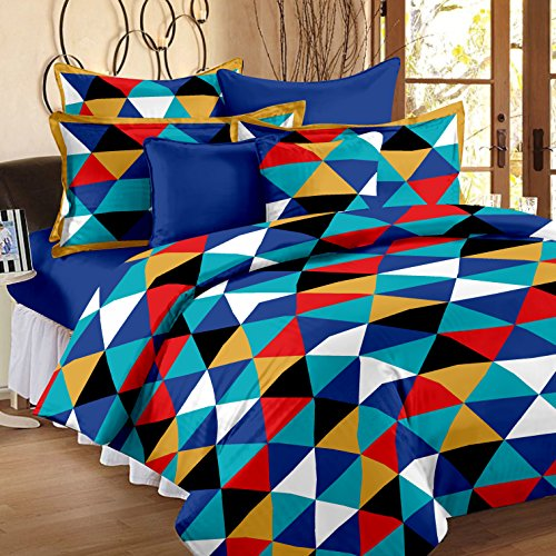 Story@Home 120 TC 100% Cotton Yellow 1 Single Bedsheet with 1 Pillow Cover