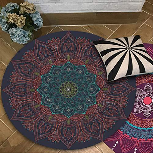 IMON LL Tappetitappeti Rotondi orientali, Tappeto Tradizionale Vintage India Tappeti di Design...