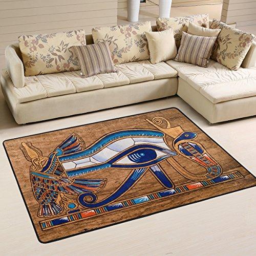 Naanle Egyptian Horus Eye tappeto antiscivolo per per camera da letto, soggiorno, cucina 50x...