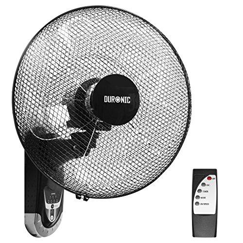 Duronic FN55 Ventilatore turbo oscillante a parete 60W – 5 Pale Ø 40 cm – Telecomando 3...