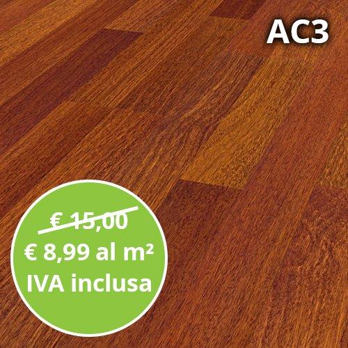 Pavimento in Laminato Afzelia Confezione Da 2.47 Mq | AC3