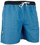 GUGGEN MOUNTAIN Maillot de bain pour homme de materiau high-tech slip shorts checked *differentes couleurs* Colour Bleu S