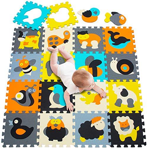 meiqicool Tappeto Puzzle Tappetini Puzzle per Bambini Giochi Giocattoli Puzzle|Tappeti da Gioco 18...