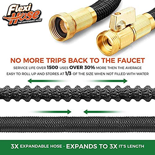 Forget about leaks thanks to the brass connectors that are not liable to get damaged easily. The solid brass fittings will last for years to come because they do not rust or crack easy from impact. The hose id also reinforced so that it can handle a maximum of 12bars of water pressure. Additionally, the duo latex core can handle high water temperatures up to 113? indicating that you wanted to clean something with warm water, it is possible.