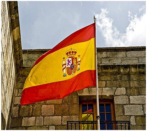 Hemore Bandera de España,Bandera Grande 150×90cm(Impermeable y no se Descolora)