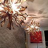 Deckenlampe Wurzelholz INFERNO Ø 80 cm | Hängelampe Kugel Holz rund rustikal | Lampe Handarbeit | Unikat