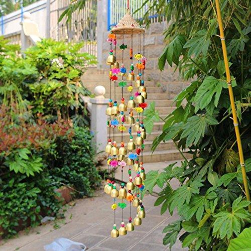 Inicio artesanías decoración puerta colgando de cuerdas y ornamentos Campana de bronce carillón de viento de la tienda Pasillo y Jardín buena suerte para la boda Birthay Madre y el regalo del Día del Padre