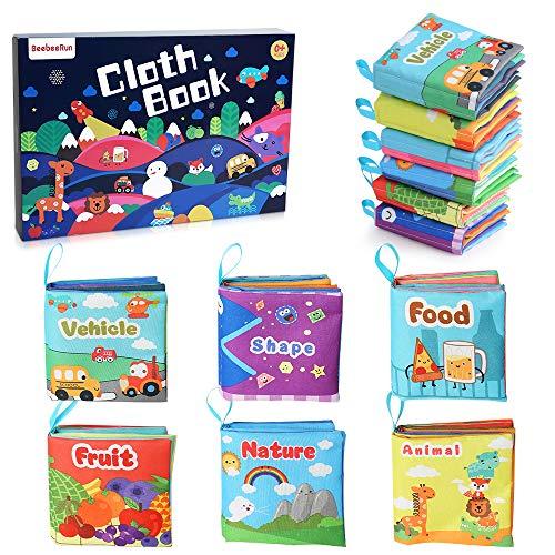 BeebeeRun Libri di Stoffa per Neonati,6 PCS Mio Primo Morbido Libro Giocattoli Educativi Regali,0+...