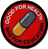 Akira Good for Health Bad for Education Japanese Anime Emo Punk Scifi Patch Iron On Parche Bordado Termoadhesivo