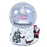 The Christmas Workshop 15cm Musical Polyresin Christmas Snow Globe