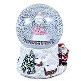 The Christmas Workshop 15cm Musical Polyresin Christmas Snow Globe