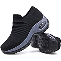 Women Slip On Walking Shoes - Mesh Breathable Sneakers Athletic Road Running Trainers