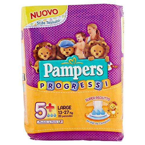 Pampers Pannolini Progressi Taglia 5 - Confezione da 20 Pezzi