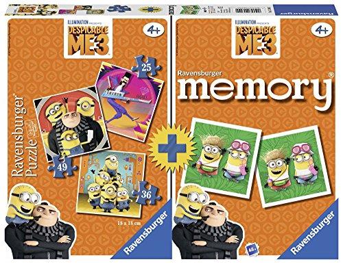Ravensburger Italy 3 Puzzle e Memory Minions Cattivissimo Me 3, 21309