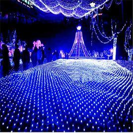 Road&Cool Filet Rideau De Lumière Net Noël en Plein Air Jardin Étanche LED Filets De Pêche Étoilé Mariage Chaîne Décoration Chaud Blanc Nuit Lampe Humeur Fée (3m * 3m)