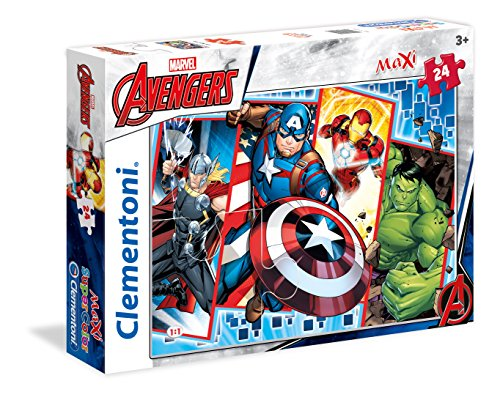 Clementoni The Avengers Maxi Puzzle, 24 Pezzi, 24495