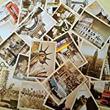 EUGU 32 Pcs 1 Set Vintage Retro Old Voyage Cartes Postales pour Worth Collecting