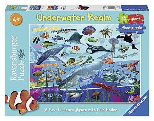Ravensburger 07347 - Il regno del mare, Puzzle 60 pezzi Giant