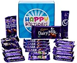 The Ultimate Cadbury Dairy Milk Chocolate Lovers Happy Birthday Gift Box - by Moreton Gifts - Dairy Milk Chocolate Bars, Buttons, Freddo, Hot Chocolate