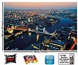 GREAT ART - Decorazione da Parete Londra al Tramonto, Motivo metropoli XXL, 140 x 100 cm