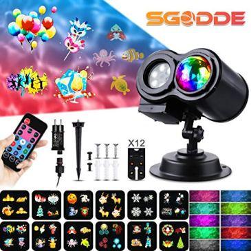 SGODDE Projecteur Fête, projecteur de lumière LED