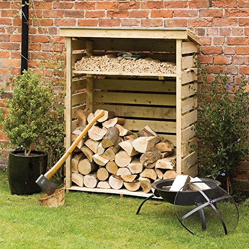 Introducing the Rowlinson Small Log Store that is affordable but you no the saying 'you get what you pay for' that stands true with this model. For the price its great, but don't expect the same quality wood than more expensive models in this list.