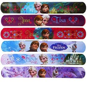 Disney 6 Diferentes Frozen Slap Snap Bandas - la Reina del Hielo - Schnapp-Armband - Motivo: Sisters Forever - Anna&Elsa