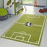 Tappeto Per Bambini Da Gioco Calcio Tappeti Per Stanza Dei Bambini Campo Da Calcio In Verde Crema, Größe:80x150 cm
