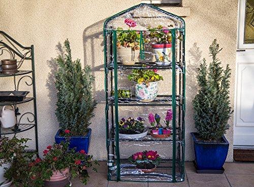 Serre de jardin, balcon, terrasse – Structure acier vert housse PVC ...