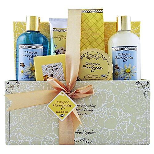 Gloss! Floral Garden Corbeille de Bain Premium Amande au Miel 6 Pièces, Coffret Cadeau-Coffret de bain 21